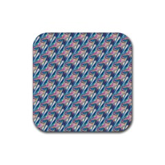 holographic Hologram Rubber Square Coaster (4 pack)