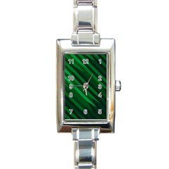 Abstract Blue Stripe Pattern Background Rectangle Italian Charm Watch