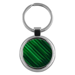 Abstract Blue Stripe Pattern Background Key Chains (Round)