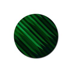 Abstract Blue Stripe Pattern Background Rubber Coaster (Round)