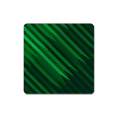 Abstract Blue Stripe Pattern Background Square Magnet
