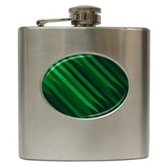 Abstract Blue Stripe Pattern Background Hip Flask (6 oz)