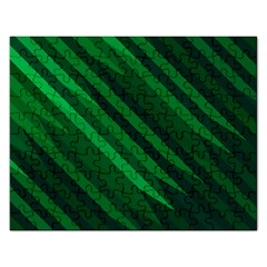 Abstract Blue Stripe Pattern Background Rectangular Jigsaw Puzzl