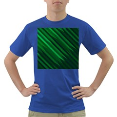 Abstract Blue Stripe Pattern Background Dark T-Shirt