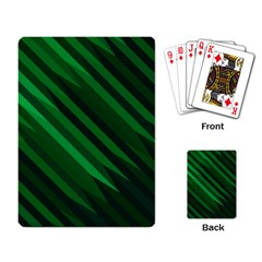 Abstract Blue Stripe Pattern Background Playing Card