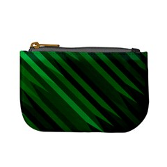 Abstract Blue Stripe Pattern Background Mini Coin Purses