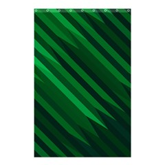 Abstract Blue Stripe Pattern Background Shower Curtain 48  x 72  (Small)