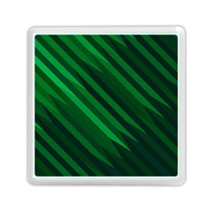 Abstract Blue Stripe Pattern Background Memory Card Reader (square)