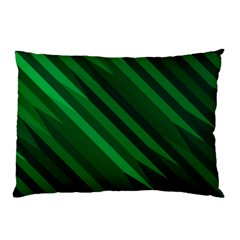 Abstract Blue Stripe Pattern Background Pillow Case (Two Sides)