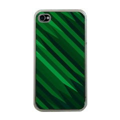 Abstract Blue Stripe Pattern Background Apple iPhone 4 Case (Clear)