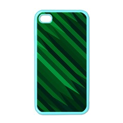 Abstract Blue Stripe Pattern Background Apple iPhone 4 Case (Color)