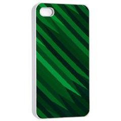 Abstract Blue Stripe Pattern Background Apple iPhone 4/4s Seamless Case (White)