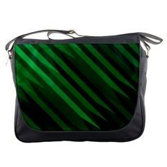 Abstract Blue Stripe Pattern Background Messenger Bags