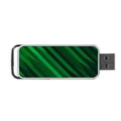 Abstract Blue Stripe Pattern Background Portable USB Flash (One Side)