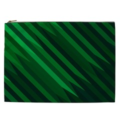 Abstract Blue Stripe Pattern Background Cosmetic Bag (XXL)