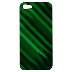 Abstract Blue Stripe Pattern Background Apple iPhone 5 Hardshell Case