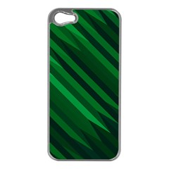 Abstract Blue Stripe Pattern Background Apple Iphone 5 Case (silver)