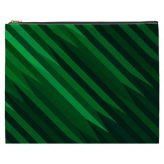 Abstract Blue Stripe Pattern Background Cosmetic Bag (XXXL)