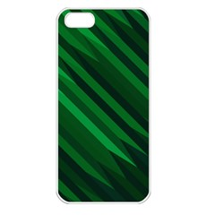 Abstract Blue Stripe Pattern Background Apple iPhone 5 Seamless Case (White)
