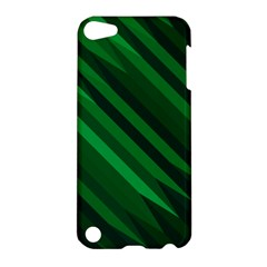 Abstract Blue Stripe Pattern Background Apple iPod Touch 5 Hardshell Case