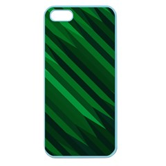 Abstract Blue Stripe Pattern Background Apple Seamless iPhone 5 Case (Color)