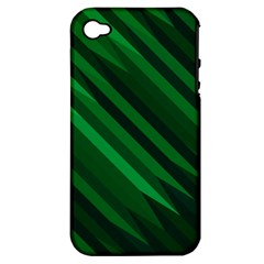 Abstract Blue Stripe Pattern Background Apple iPhone 4/4S Hardshell Case (PC+Silicone)
