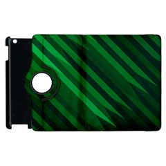 Abstract Blue Stripe Pattern Background Apple iPad 2 Flip 360 Case