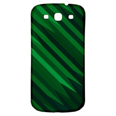 Abstract Blue Stripe Pattern Background Samsung Galaxy S3 S III Classic Hardshell Back Case