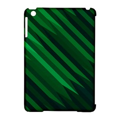 Abstract Blue Stripe Pattern Background Apple iPad Mini Hardshell Case (Compatible with Smart Cover)