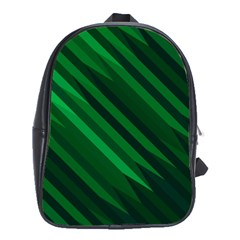 Abstract Blue Stripe Pattern Background School Bags (XL)