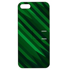 Abstract Blue Stripe Pattern Background Apple iPhone 5 Hardshell Case with Stand