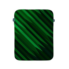Abstract Blue Stripe Pattern Background Apple iPad 2/3/4 Protective Soft Cases