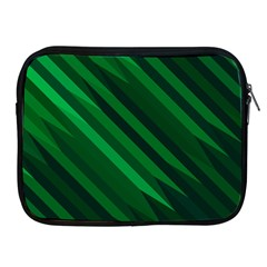 Abstract Blue Stripe Pattern Background Apple iPad 2/3/4 Zipper Cases