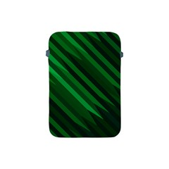 Abstract Blue Stripe Pattern Background Apple iPad Mini Protective Soft Cases
