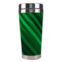 Abstract Blue Stripe Pattern Background Stainless Steel Travel Tumblers