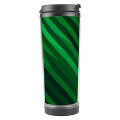 Abstract Blue Stripe Pattern Background Travel Tumbler