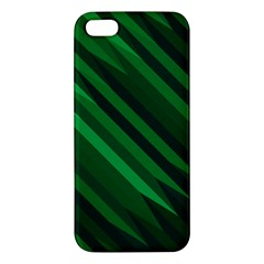Abstract Blue Stripe Pattern Background iPhone 5S/ SE Premium Hardshell Case
