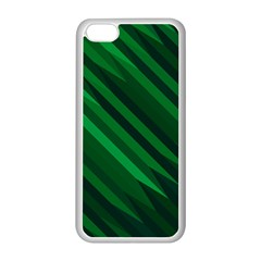 Abstract Blue Stripe Pattern Background Apple iPhone 5C Seamless Case (White)