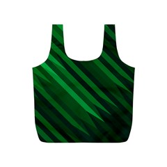 Abstract Blue Stripe Pattern Background Full Print Recycle Bags (S)