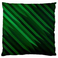Abstract Blue Stripe Pattern Background Large Flano Cushion Case (One Side)