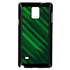 Abstract Blue Stripe Pattern Background Samsung Galaxy Note 4 Case (Black)
