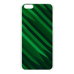 Abstract Blue Stripe Pattern Background Apple Seamless iPhone 6 Plus/6S Plus Case (Transparent)