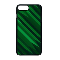 Abstract Blue Stripe Pattern Background Apple Iphone 7 Plus Seamless Case (black)