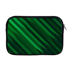 Abstract Blue Stripe Pattern Background Apple Macbook Pro 17  Zipper Case
