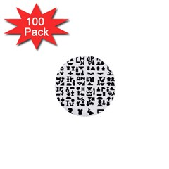 Anchor Puzzle Booklet Pages All Black 1  Mini Buttons (100 pack)