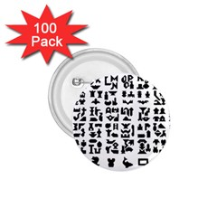 Anchor Puzzle Booklet Pages All Black 1 75  Buttons (100 Pack)