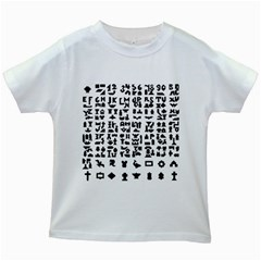 Anchor Puzzle Booklet Pages All Black Kids White T-Shirts