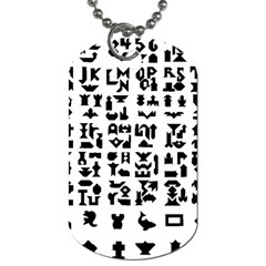 Anchor Puzzle Booklet Pages All Black Dog Tag (Two Sides)