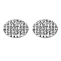 Anchor Puzzle Booklet Pages All Black Cufflinks (Oval)