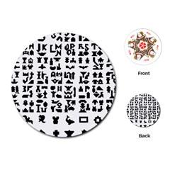 Anchor Puzzle Booklet Pages All Black Playing Cards (Round)